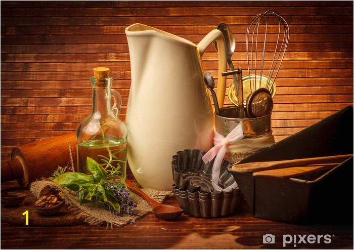 Photographic Wall Murals Od Kitchen Cooking Utensils Wall Mural • Pixers • We Live to Change