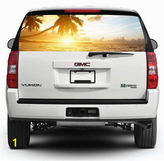 Rear Window Decals for Trucks Rear Window Graphic Decal for Truck Suv Pick Up Sunset Car