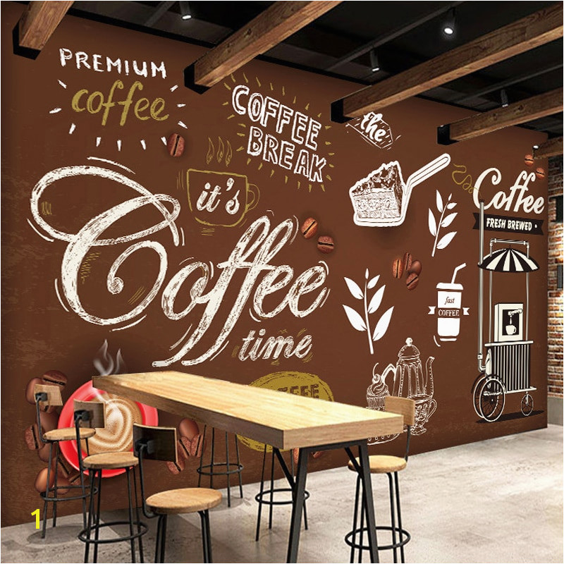 Custom Any Size European Style Retro Hand painted Poster Mural Wallpaper Coffee Shop Restaurant Background Wall Painting Paper
