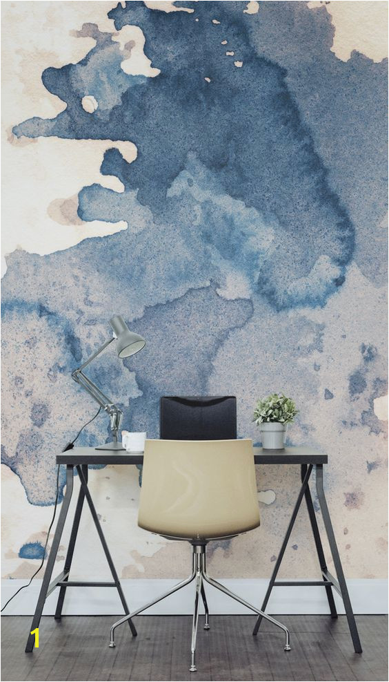 Fabulous creative backdrop shown in this ink spill watercolour wall mural