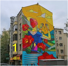 The Key New Mural by Dmitri Aske aka Sicksystems Moscow Russia This painting on a five storey building was made in the centre of Moscow as a part of the