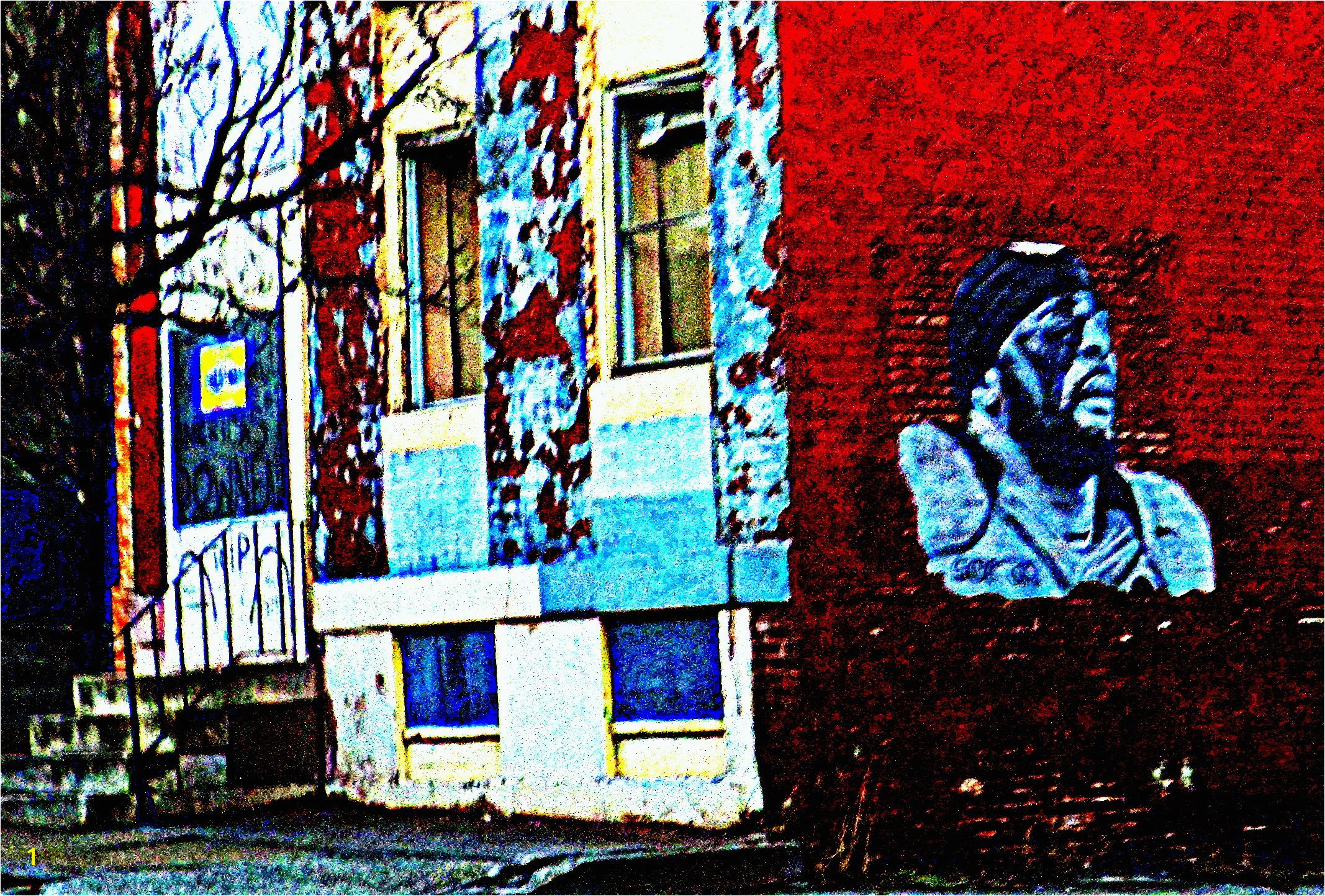 Baltimore City Building Mural Art By Constantine