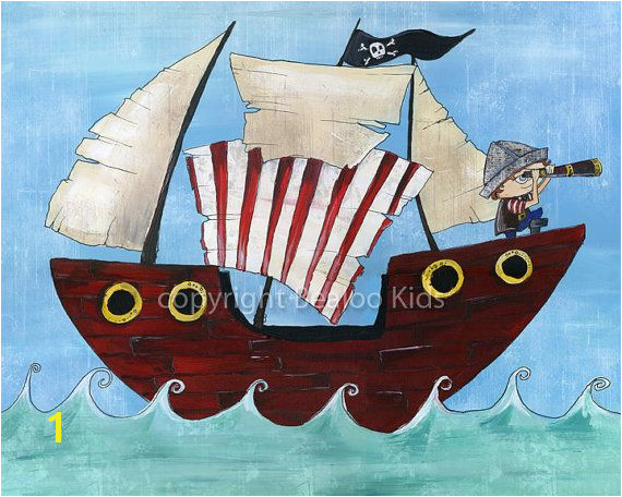 Pirate Art 8x10 Pirate Ship Print on Etsy $15 00