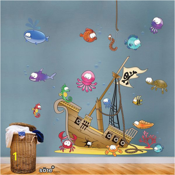 Pirate Ship Wall Stickers