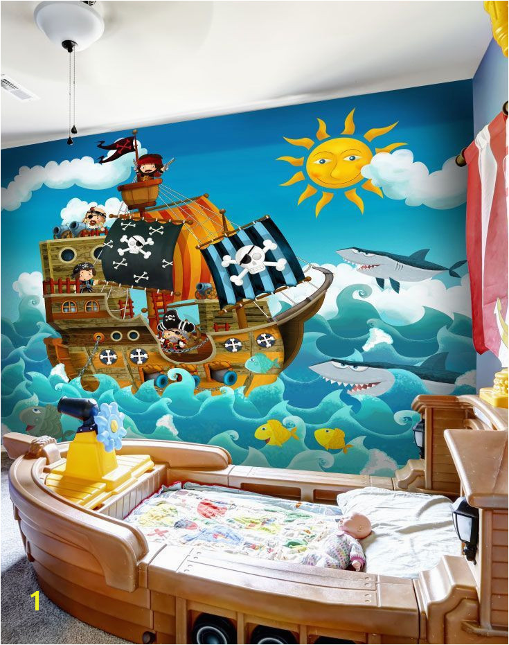 Stunning Pirates wall mural from Wallsauce This high quality Pirates wallpaper is custom made to your dimensions