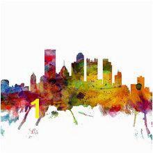 Canvas print Pittsburgh Skyline Pittsburgh Skyline Pittsburgh Pa Skyline Art Canvas Wall