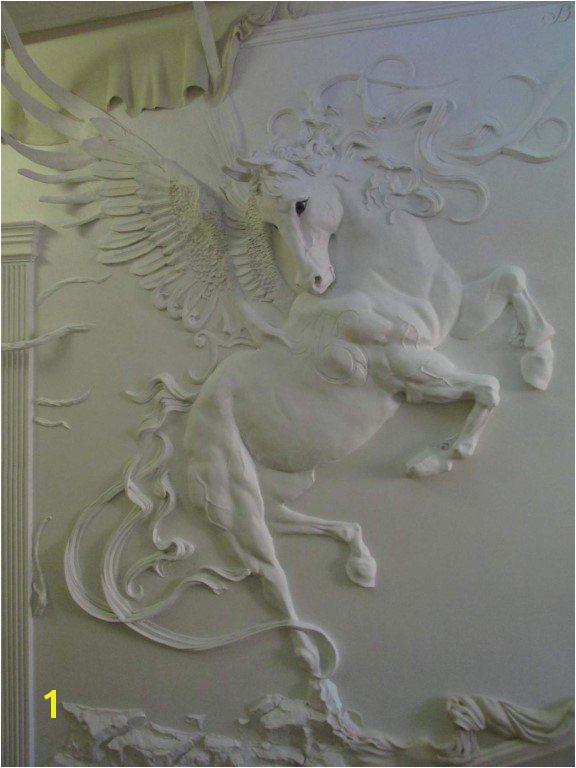 Wall Murals 3d Wall Art Mural Art Horse Art Plaster Sculpture
