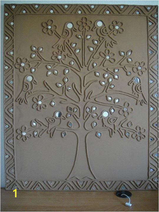 Plaster Of Paris Wall Murals Plaster Of Paris with Mirror Work Indian Google Search