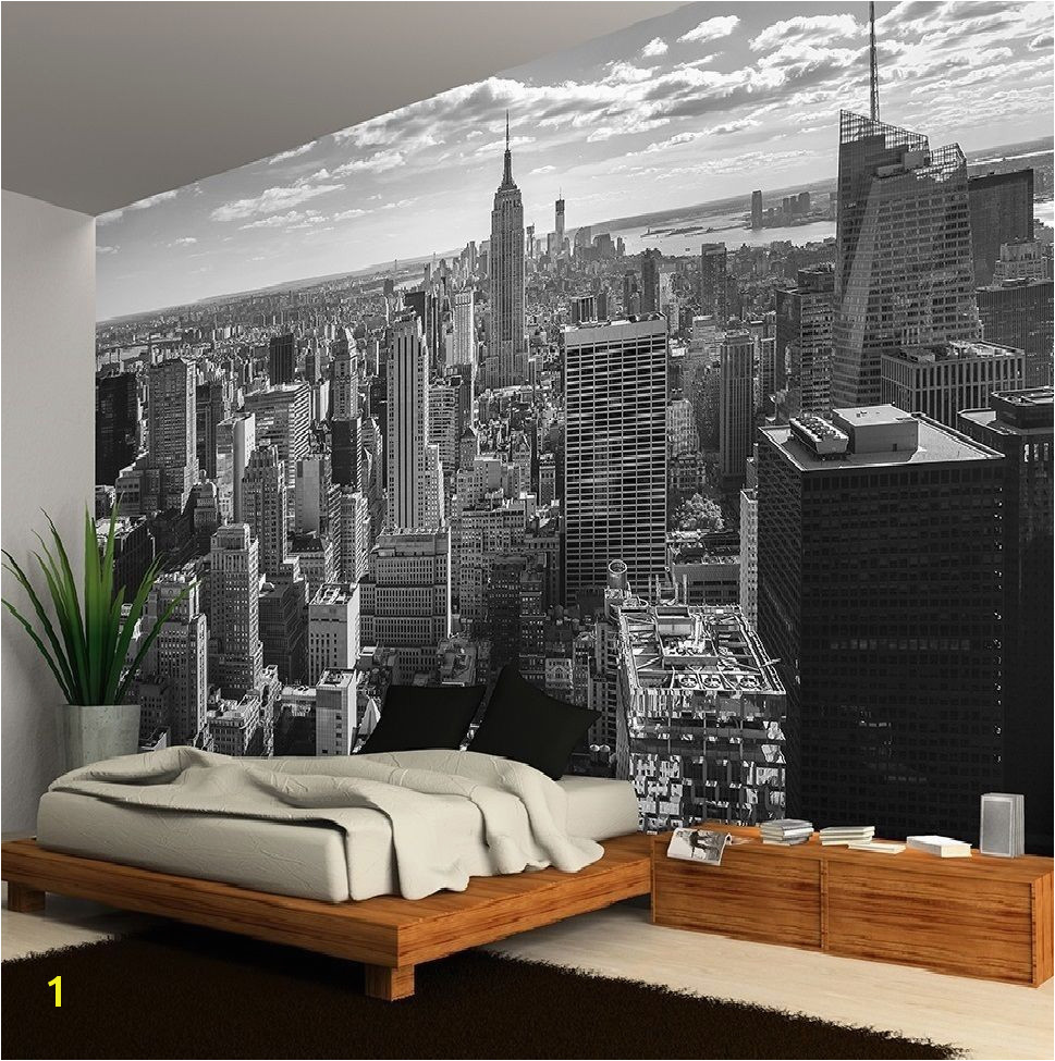 New York City Skyline Black White Wallpaper Wall Mural 335x236cm Huge