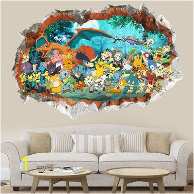 Children Bedroom Cartoon Pokemon waterproof Mural Wallpaper Wall stickers Boy Birthday Gift Check out the image by visiting the link