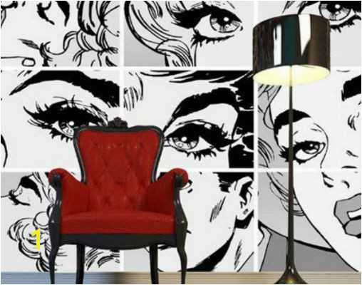 the use of ics and cartoons is typical of the pop art home decoration Fascinating pop art ideas for inspiring your interior home decor