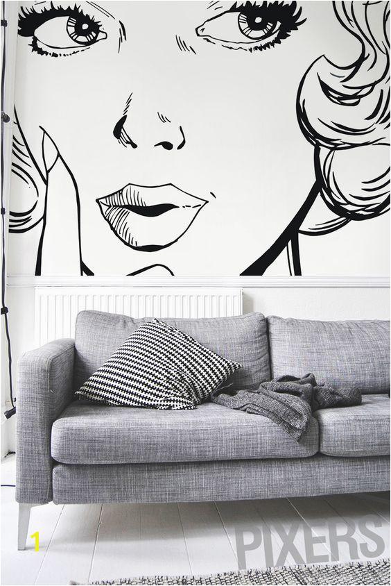 Wall mural ilustraci³n del rostro de una mujer woman • PIXERSIZE