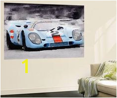 Porsche 917 Gulf Watercolor Wall Mural at AllPosters