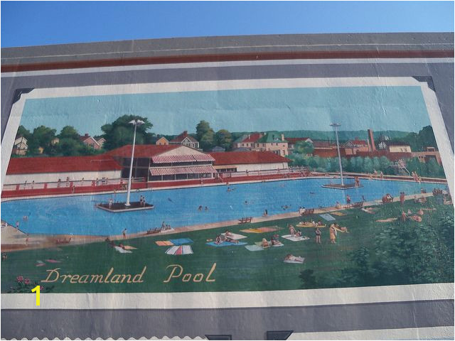Dreamland Pool flood wall Mural Portsmouth OH