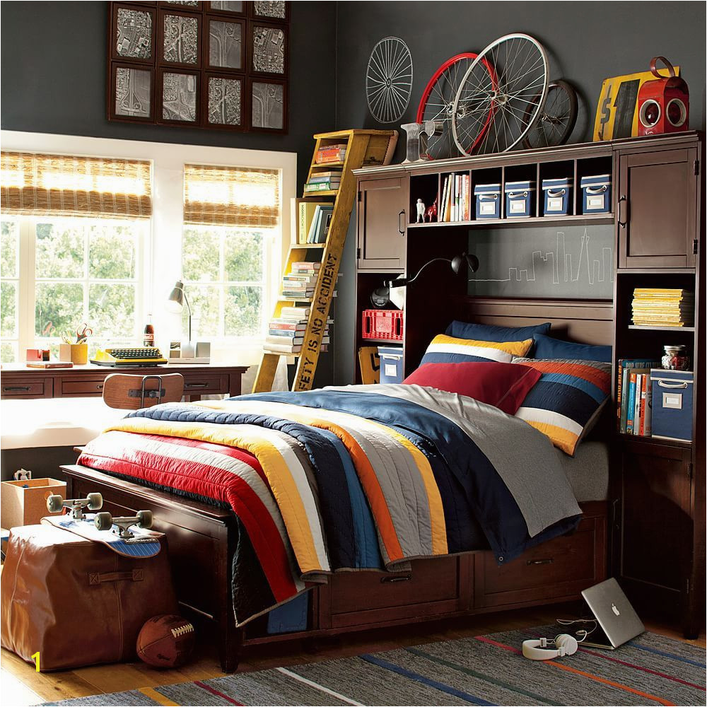 Pottery Barn Teen MVP Stripe quilt