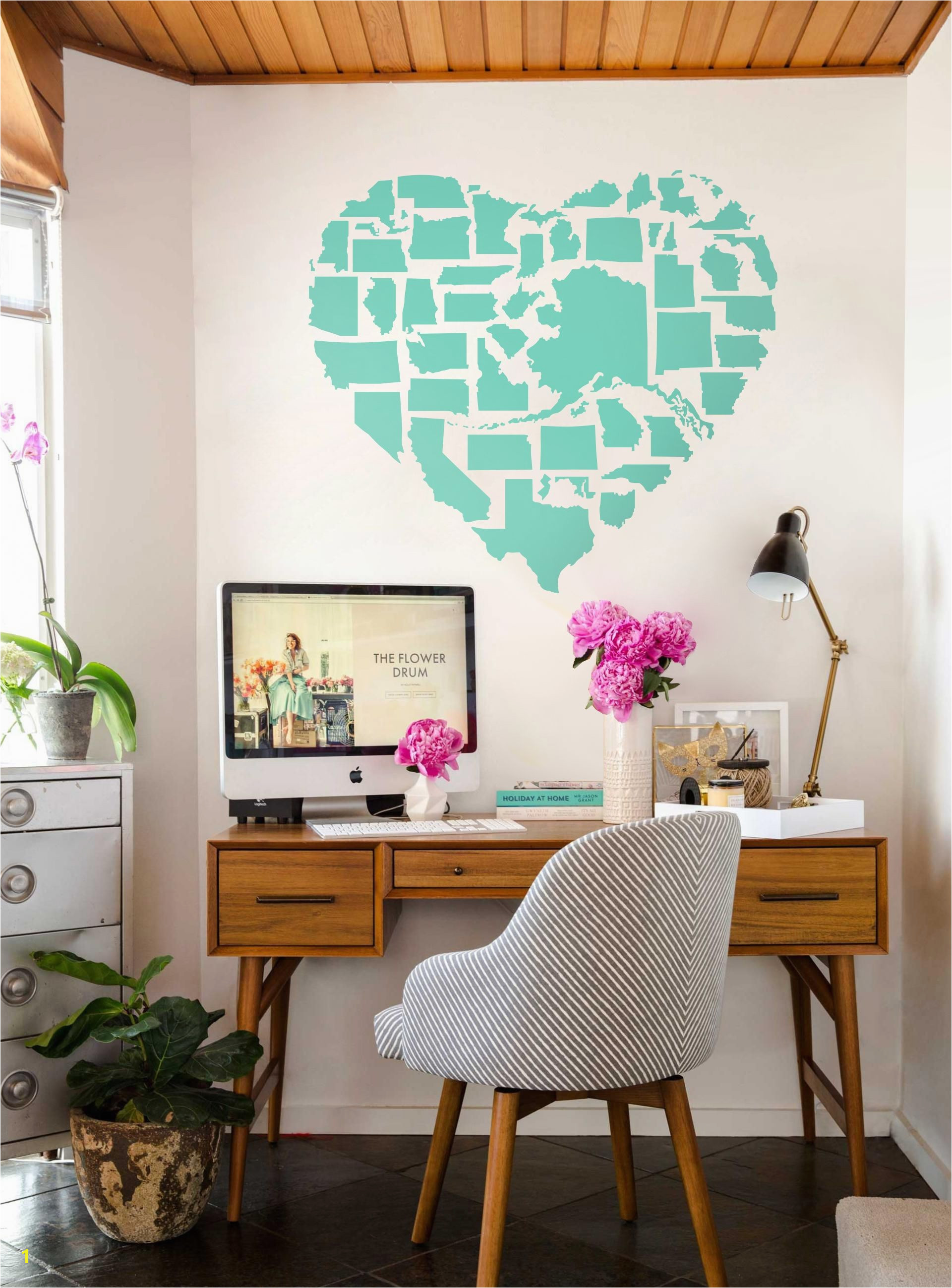 Pottery Barn Us Map Art Save Map Decal for Wall Map Wall Decal Map Sticker for
