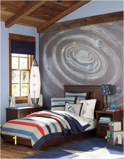 Space themed room decor ideas kids toddler teen outer galaxies wall murals girl interior design DIY boys tumblr awesome ceilings and shelves