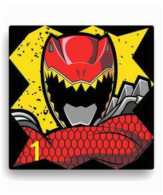 Power Rangers Red Ranger Wall Canvas by Power Rangers zulily zulilyfinds Tv Decor