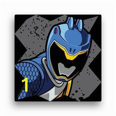 Power Rangers Blue Ranger 12 x 12 Canvas Wall Art Wall Decor Decor
