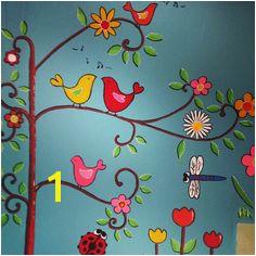 handpainted mural klabhauz preschool Preschool Decor Preschool Garden Garden Mural Garden