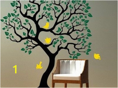 Kids Room Ideas with Tree and Birds Wall Mural