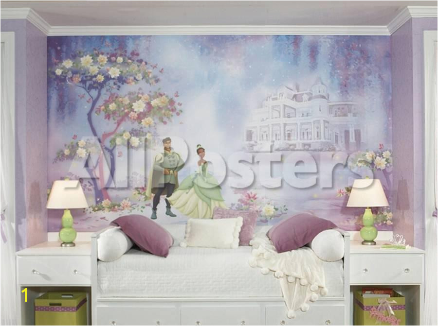 Princess & Frog Chair Rail Prepasted Mural Wallpaper Mural at AllPosters