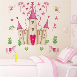 princess wall mural decals UK Removable DIY Princess Castle Star Fantasy Girls Bedroom Wall Sticker