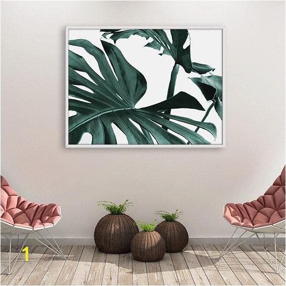 Printable Wall Mural Monstera Print Monstera Wall Art Tropical Leaves Tropical Leaves