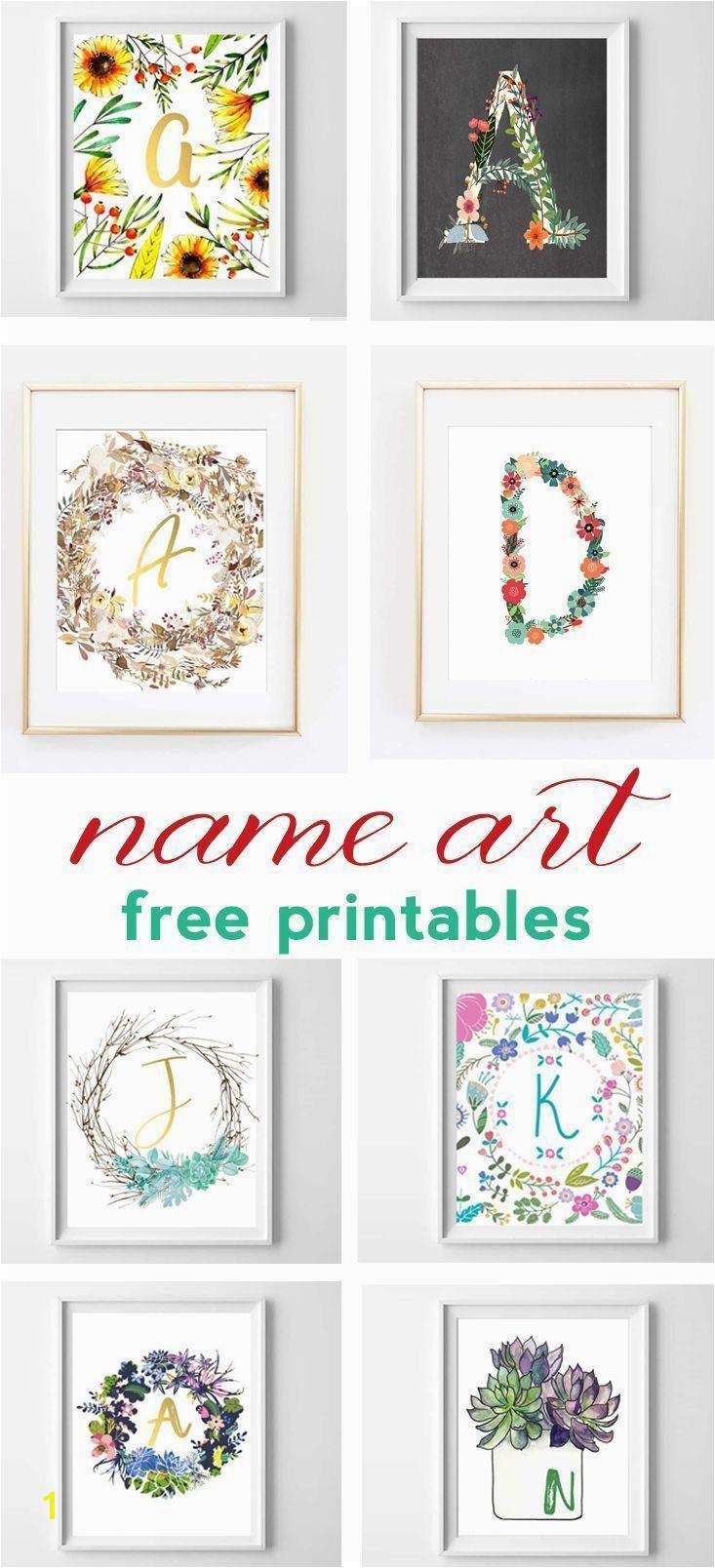 Printable Wall Murals Name Art and Alphabet Printables Free Printable Art