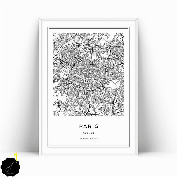 Printable Wall Murals Paris Map Printable Wall Art Paris City Map Wall Art Prints