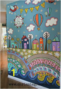 painted wall mural using acrylic craft paints Arte Nas Paredes Kids Wall Murals