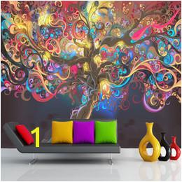 Tree of life wallpaper Psychedelic Wallpaper Custom 3D Wall Mural Art Bedroom Hotel Bar Shop Art Room decor Natural scenery wallpaper