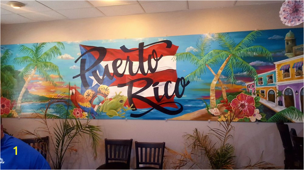of Puerto Rico Restaurant Windsor Heights IA United States Mural