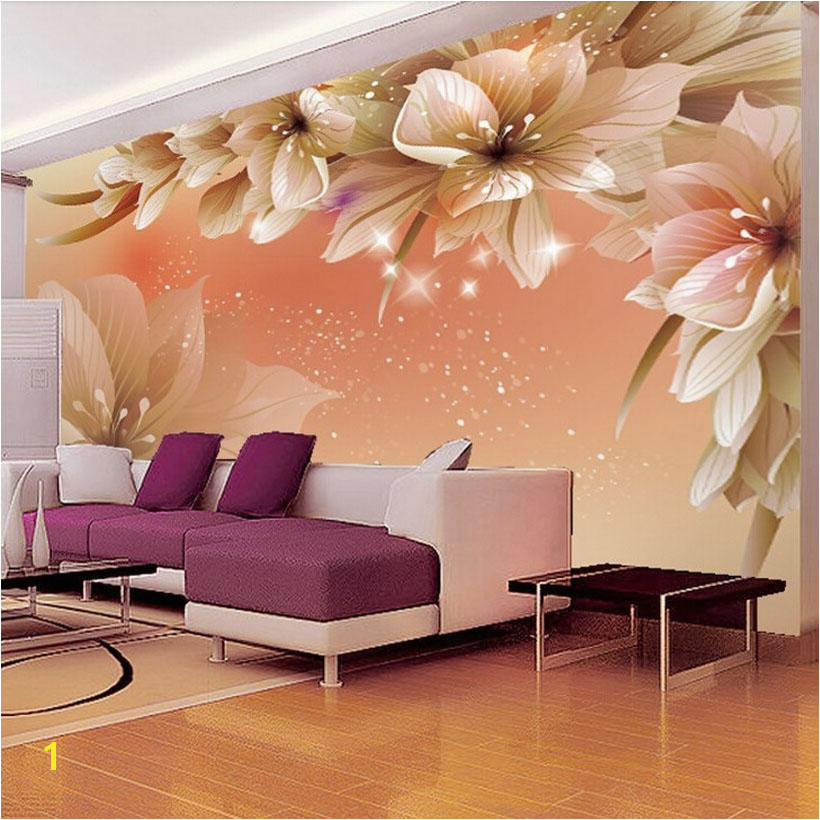 Custom 3D Wallpaper Modern Flower Wall Mural Wall Paper Living Room Sofa TV Background Non Woven Fabric Wallpaper Bedroom Blue Wallpaper Bollywood