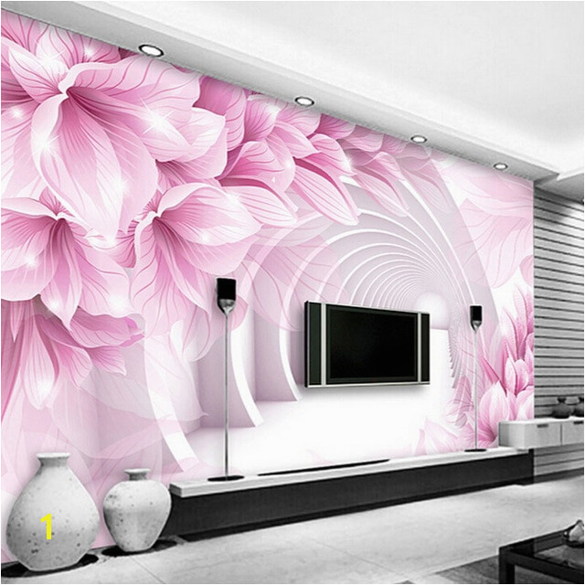 Custom Wall Mural Wallpaper Modern Minimalist 3D Stereo Space Flower Pattern TV Backdrop Living Room Bedroom Wallpaper Murals 3D