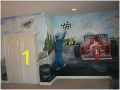 race track murals by Lorie La Plant