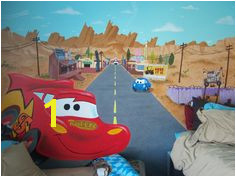 Radiator Springs in my room Amazing Cars Mural by Danielle Lopez Radiator Springs