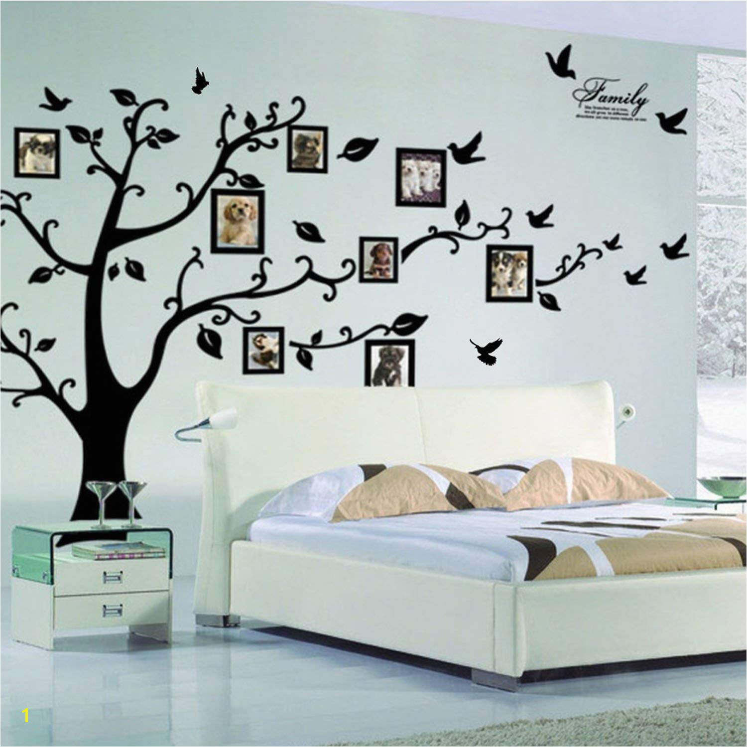 X DIY Family Tree Wall Art Stickers Removable Vinyl Black Trees Frames Wall Stickers Decals Home Decor Art Decals Sticker by Lisdripe Family