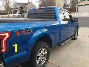 Image is loading TRUCK REAR WINDOW WRAP AMERICAN FLAG THIN OD
