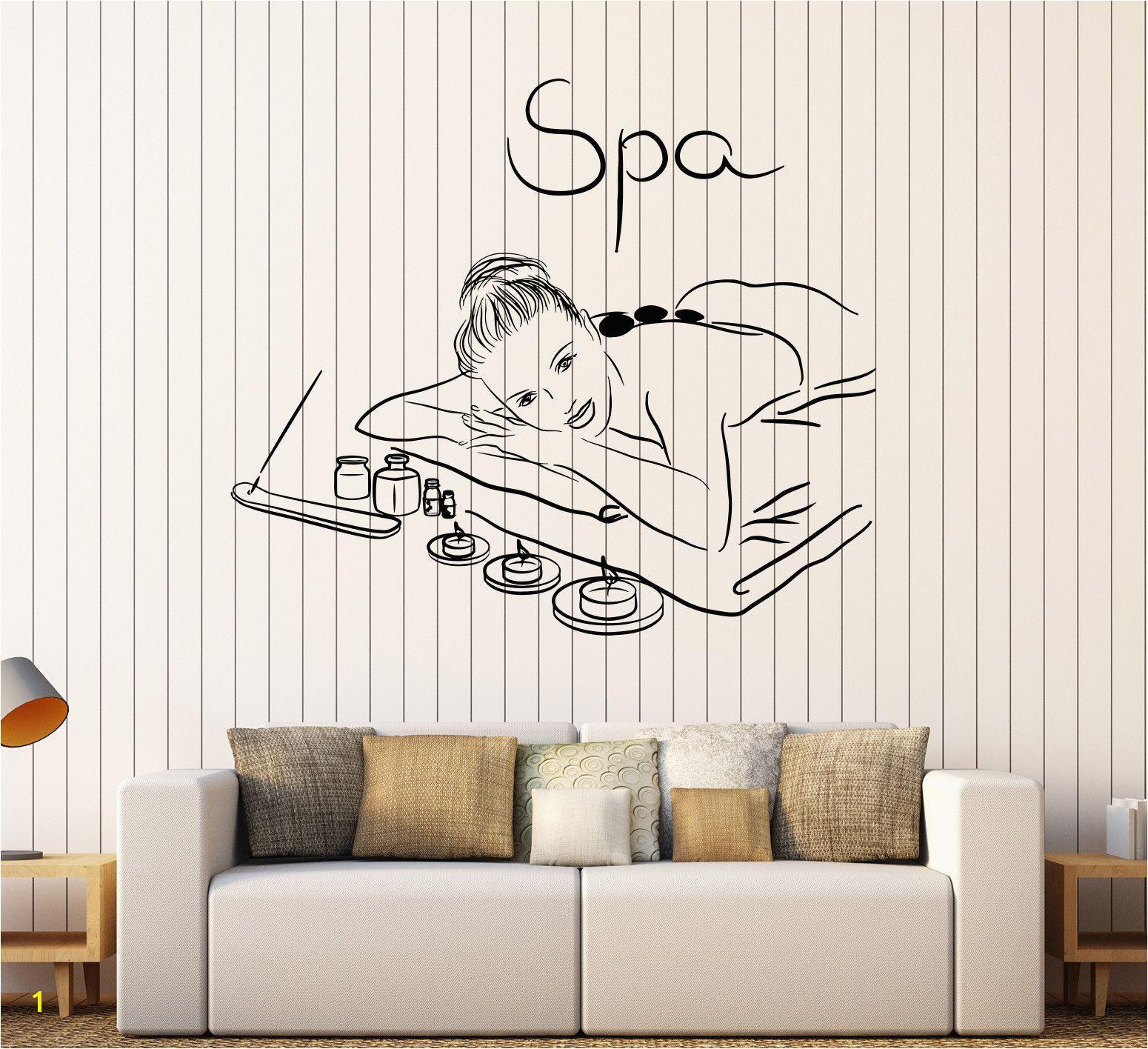 Relaxing Wall Murals Vinyl Wall Decal Spa Beauty Salon Massage Relax Stickers Mural