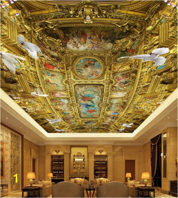 Euporean Wall Mural Wallpaper 3d Ceiling HD Luxury palace Church oil figure Wallpapers For Children Bedroom 3d Ceiling