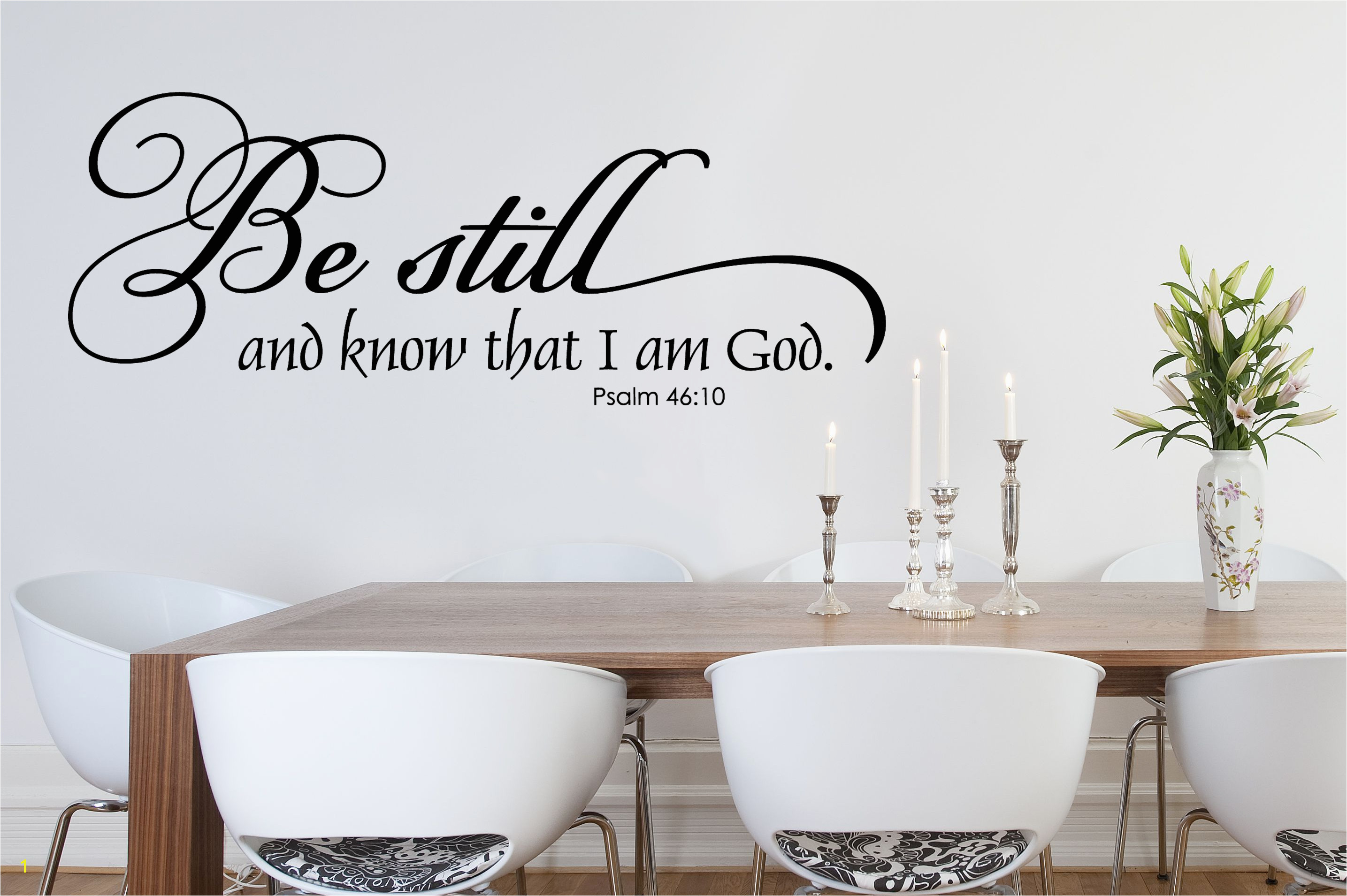 Religious Wall Murals for Churches Be Still and Know Christian Wall Decal