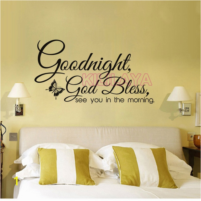 Christian Goodnight God Bless Religious Vinyl Wall Sticker Wall Decals Wall Art for Living Room Home Decor House Decoration