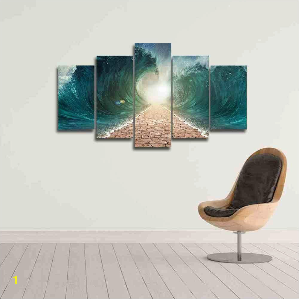 Red Sea Wall Art Canvas Christian Wall Art