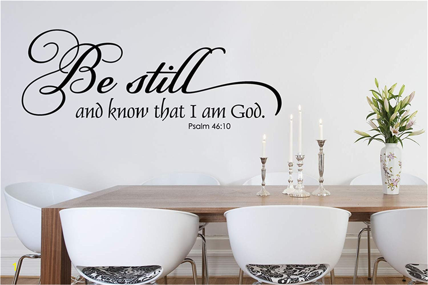 Amazon Vinyl Removable Wall Stickers Mural Decal Art Family Decals Be Still and Know Than I Am God Christian Wall Decal Home & Kitchen