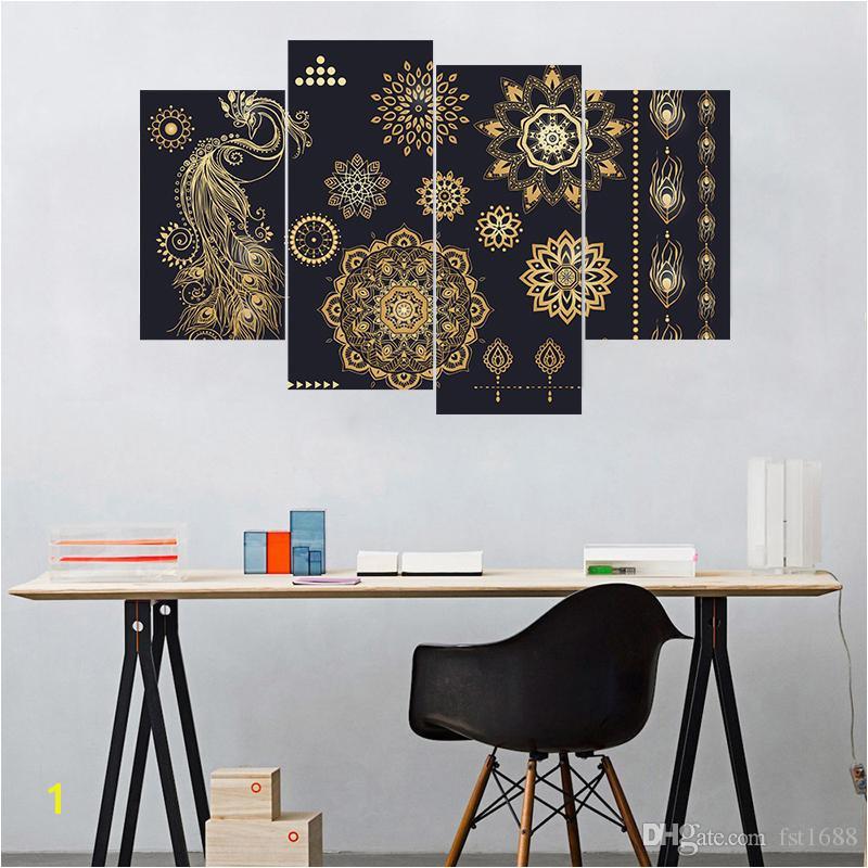 Removable Wall Murals for Cheap Creative Diy 3d Muslim Flower Pattern Style Diy Ramadan Blessings