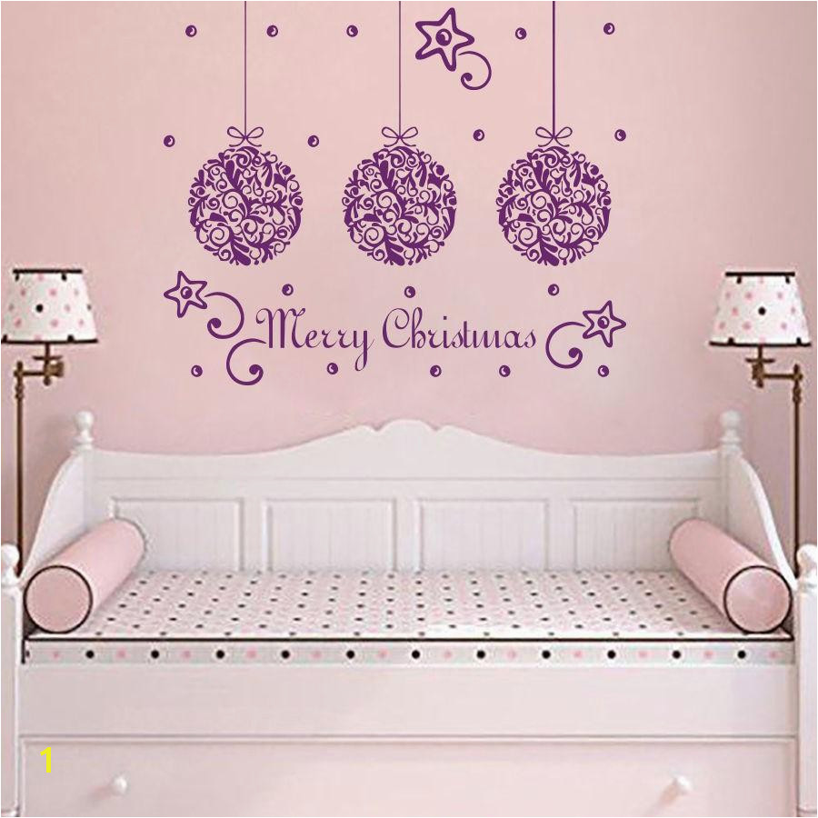 Removable Wall Murals for Cheap Merry Christmas Quotes Star Decor Wall Sticker Kids Children Bedroom