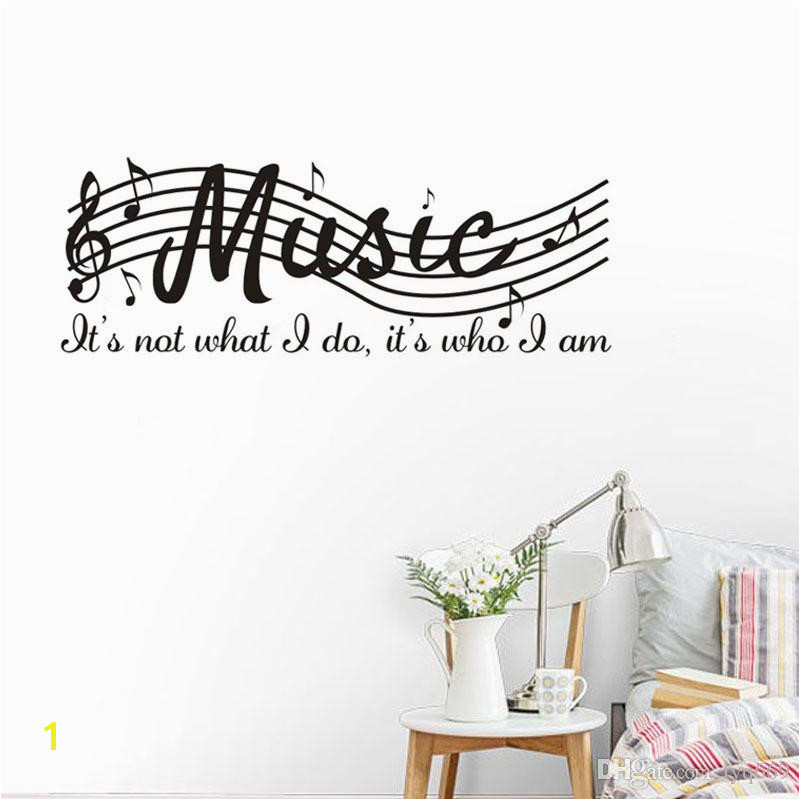 Removable Wall Murals for Cheap Staff Music Note Vinyl Wall Decal Quote Diy Art Mural Removable Wall