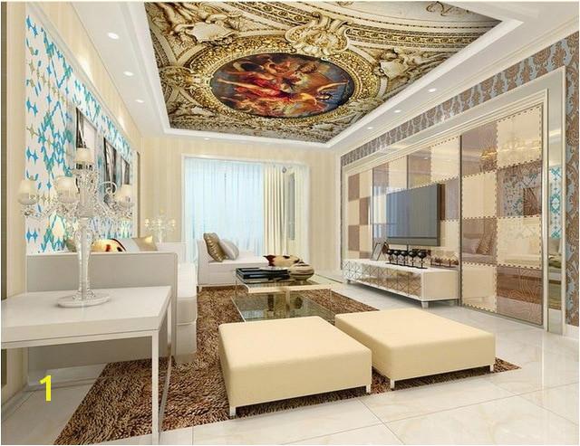 Decke wandbilder wallpaper benutzerdefinierte 3d fotowand papier für decke Renaissance schlafzimmer decke tapeten wohnkultur 3d