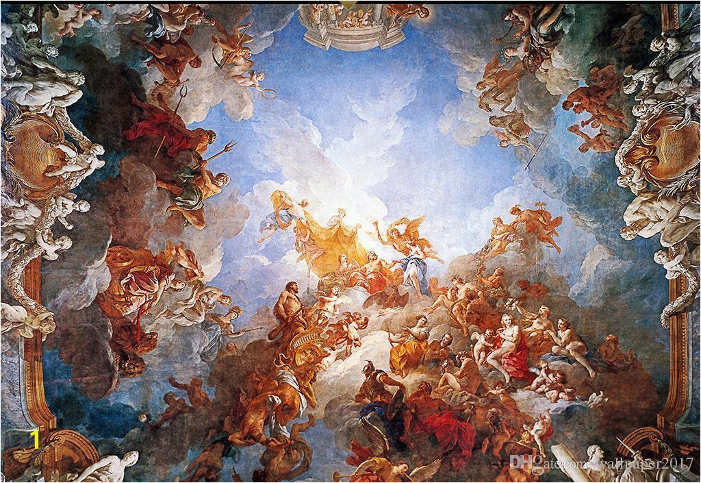 Großhandel Individuelle Fototapeten Renaissance Klassischen Zenit –lgemälde 3D Decke Wandbilder Tapete Von Wallpaper2017 $27 14 Auf De Dhgate